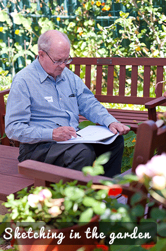 06 Sketching in the garden
