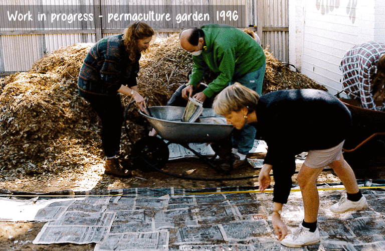 Work in progress permaculture garden 1996